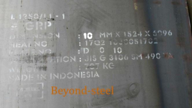 Tabel Ukuran Berat Plat SM490YA